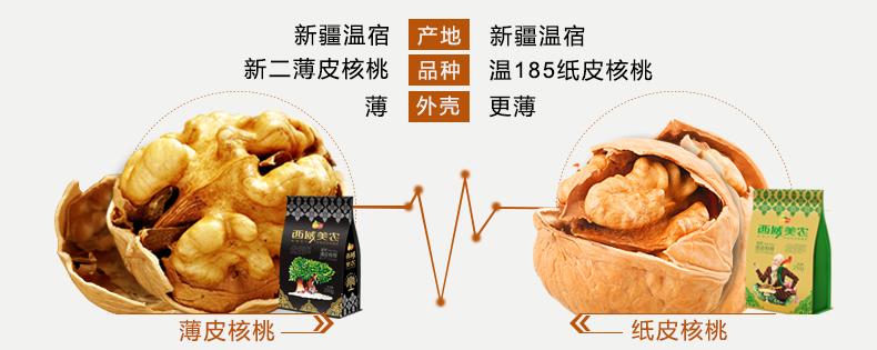【西域美农_薄皮核桃250g*2袋】新疆特产零食坚果核桃仁可选纸皮 热销商品 第5张
