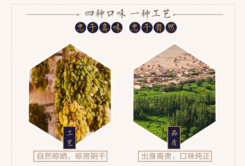 【西域美农_四色葡萄干250g*4】零食大礼包吐鲁番大葡萄干提子 热销商品 第10张